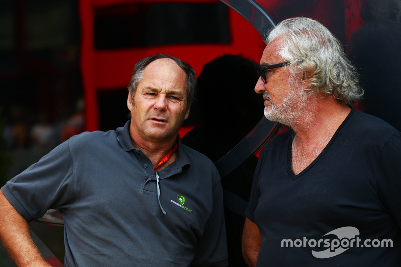 (L to R): Gerhard Berger, with Flavio Briatore