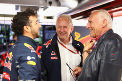 Dietrich Mateschitz, Red Bull owner with Dr Helmut Marko, Red Bull Motorsport Consultant and Daniel