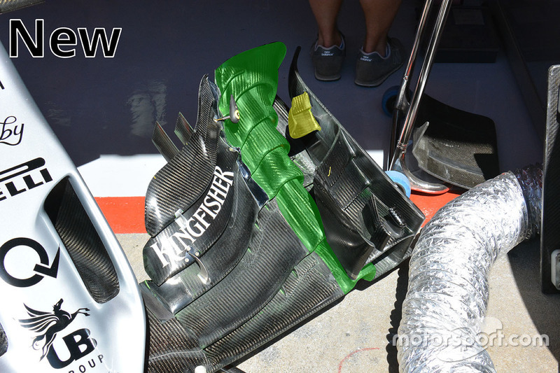 Sahara Force India F1 VJM09 new front wing detail