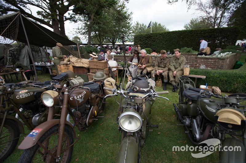 Military Motorcycle Scene