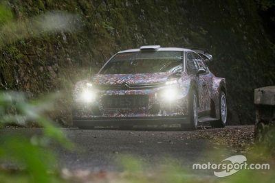 Citroën C3 WRC 2017, prueba de pista