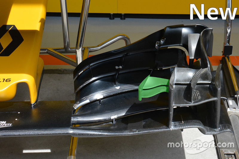 Renault Sport F1 Team, neuer Frontflügel, Detail