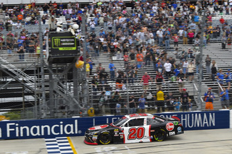 Christopher Bell, Joe Gibbs Racing, Toyota Camry Rheem takes the checkered flag