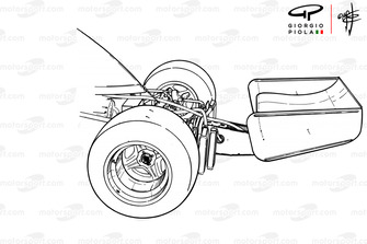 McLaren M23 experimental rear wing