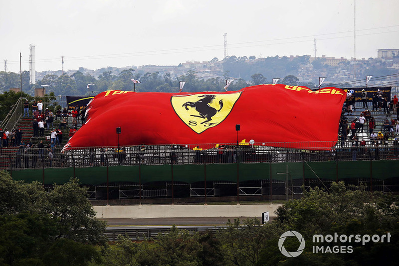 Fans with Ferrari flag