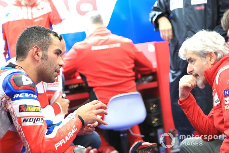 Danilo Petrucci, Pramac Racing, Gigi Dall'Igna, Ducati Team General Manager