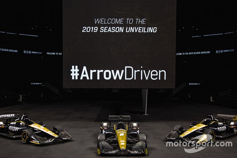 Arrow Schmidt Peterson Motorsports-Hondas of James Hinchcliffe, Robert Wickens and Marcus Ericsson.