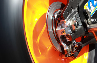 Le frein arrière de la moto de Marc Marquez, Repsol Honda Team