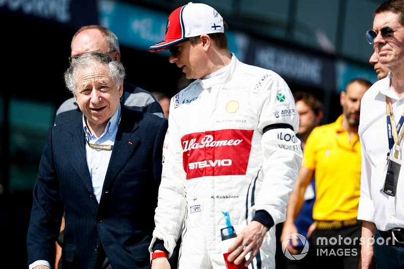 Jean Todt, FIA Başkanı ve Kimi Raikkonen, Alfa Romeo Racing