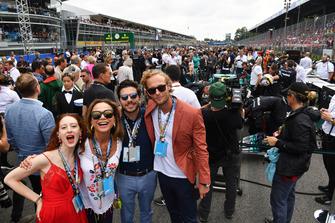 Riviera cast members Roxanne Duran, Lena Olin, Dimitri Leonidas and Jack Fox on the grid
