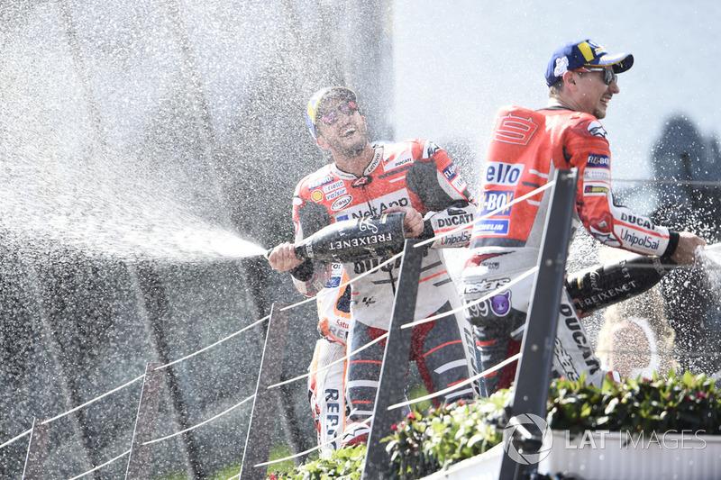Andrea Dovizioso y Jorge Lorenzo, Ducati Team