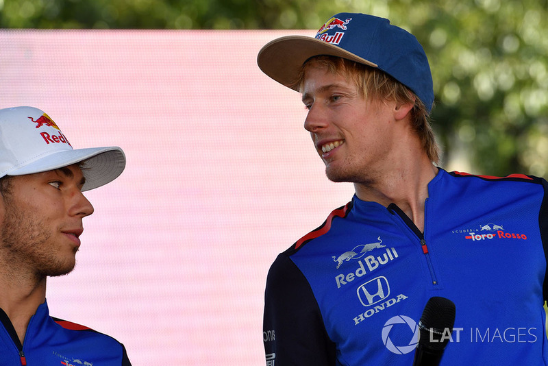 Pierre Gasly, Scuderia Toro Rosso y Brendon Hartley, Scuderia Toro Rosso