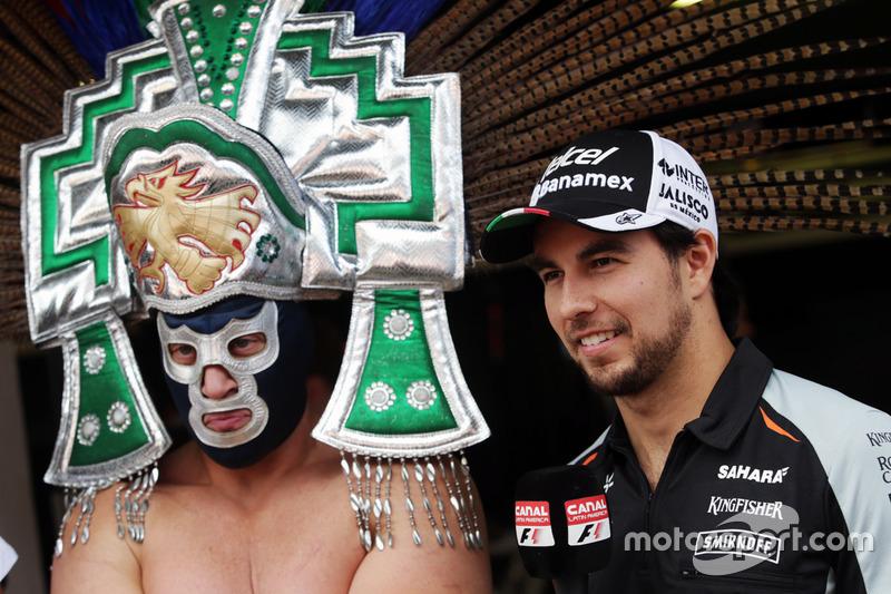 Blue Demon Jr., Luchador con Sergio Pérez, Sahara Force India F1