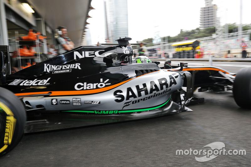 Nico Hulkenberg, Sahara Force India F1 VJM09 deja los pits