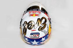 Il casco speciale dedicato a Evel Knievel che Daniel Ricciardo, Red Bull Racing userà durante le pro