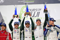 Podium GTE AM: race winners #98 Aston Martin Racing Aston Martin Vantage GTE: Paul Dalla Lana, Pedro Lamy, Mathias Lauda