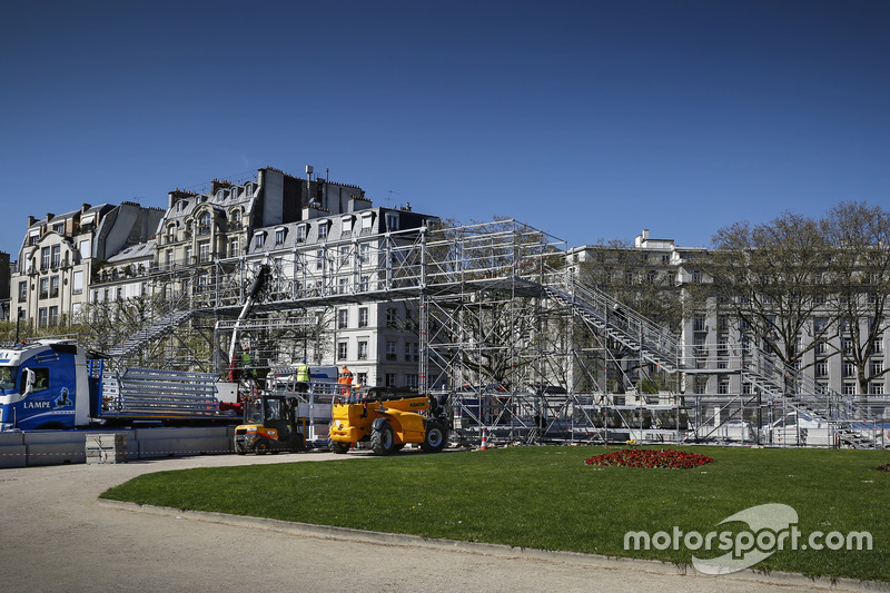 ePrix di Parigi, gli spalti in allestimento