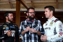 Martin Truex Jr., Furniture Row Racing, Toyota; Rutledge Wood; Carl Edwards, Joe Gibbs Racing, Toyota