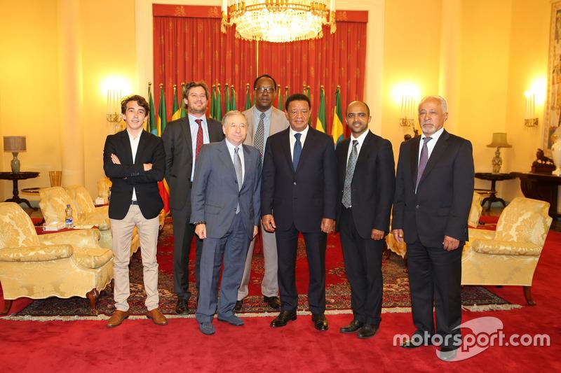Jean Todt, presidente FIA con il Presidente etiope Mulatu Teshome