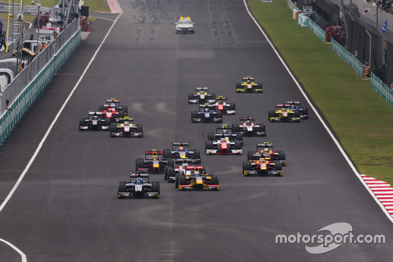 Raffaele Marciello, RUSSIAN TIME, vor Antonio Giovinazzi, PREMA Racing, Sergey Sirotkin, ART Grand Prix