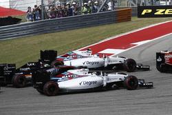 Valtteri Bottas, Williams FW38; Felipe Massa, Williams FW38 és Nico Hulkenberg, Force India VJM09
