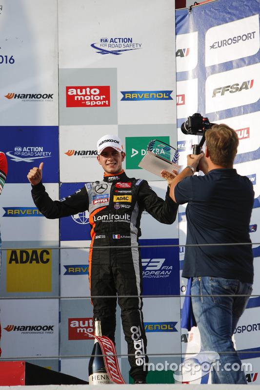 Rookie Podium: Anthoine Hubert, Van Amersfoort Racing Dallara F312 – Mercedes-Benz