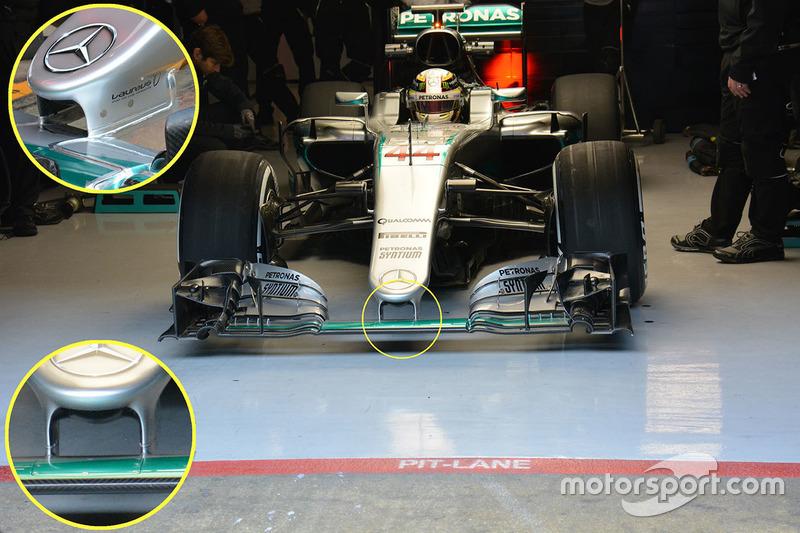 Lewis Hamilton, Mercedes AMG F1 Team W07 detail
