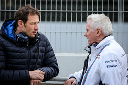 Alex Wurz, Williams Driver Mentor and GPDA Chairman with Pat Symonds, Williams Chief Technical Offic