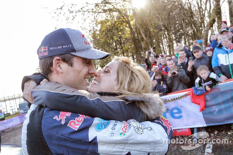 2017 Worldchampion Sébastien Ogier, Ford Fiesta WRC, M-Sport with his wife Andrea Kaiser