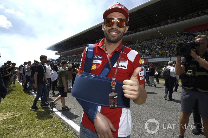 Мікеле Пірро, Ducati Team після аварії на стартовій решітці