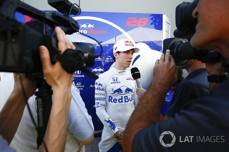 Pierre Gasly, Toro Rosso, donne une interview