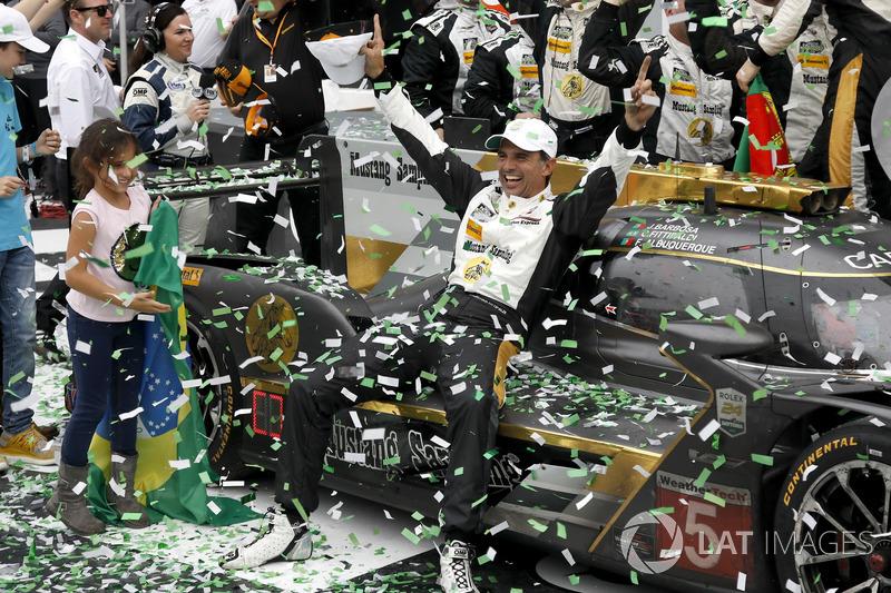 Victory lane: #5 Action Express Racing Cadillac DPi: Christian Fittipaldi