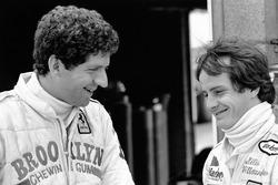 Jody Scheckter with teammate Gilles Villeneuve, Ferrari