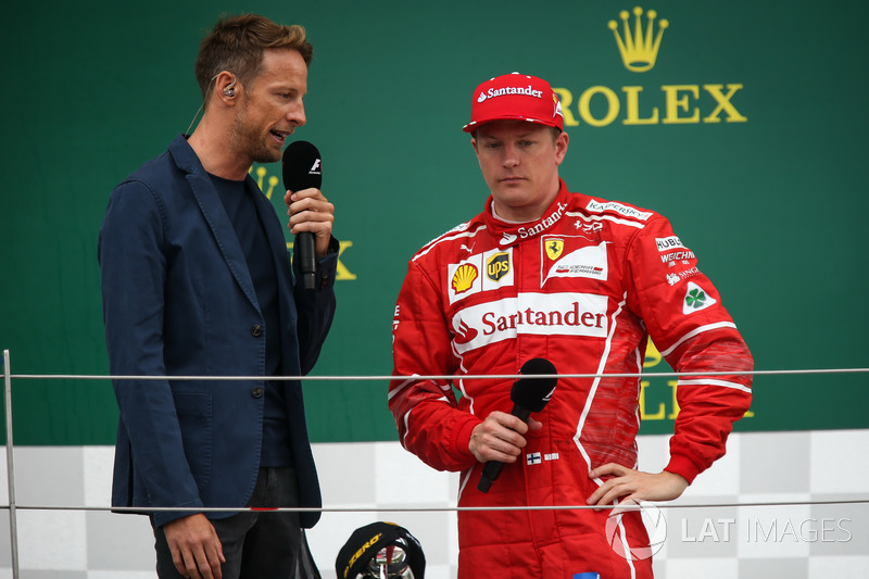 3. Kimi Raikkonen, Ferrari, mit Jenson Button
