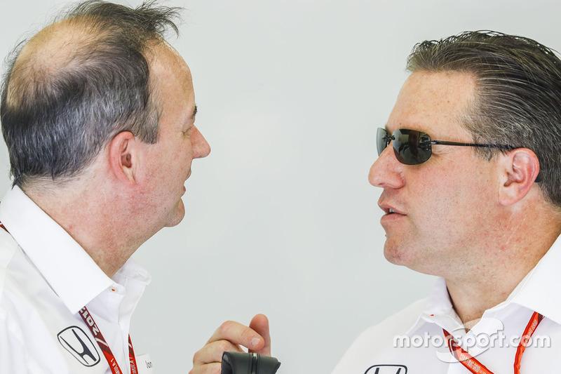 Jonathan Neale, Managing Director, McLaren, with Zak Brown, Executive Director, McLaren Technology Group