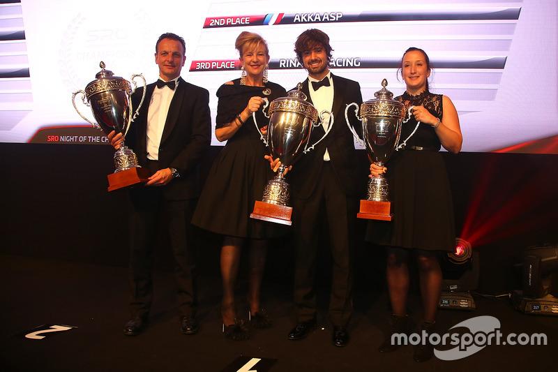 2016 Copa Pro-AM  equipos, Kessel Racing, campeón, AKKA ASP, segundo lugar, Rinaldi Racing, tercer lugar