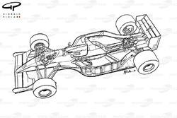 Подробная схема Williams FW14B 1992 года