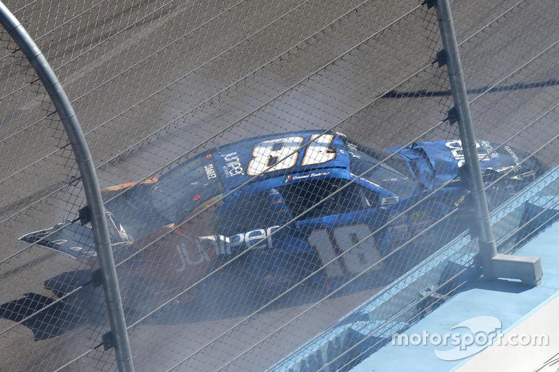 Choque, Daniel Suárez, Joe Gibbs Racing Toyota