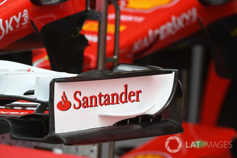 Alerón delantero del Ferrari SF70-H