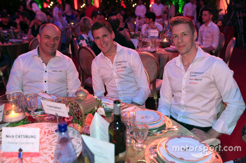 Fredrik Wahlen, Team manager Polestar Cyan racing, Nicky Catsburg, Thed Björk, Polestar Cyan Racing, Volvo S60 Polestar TC1