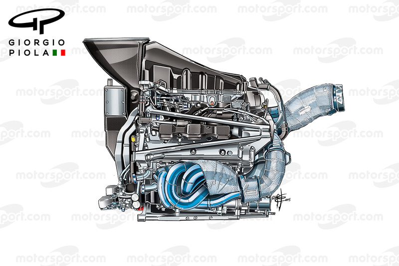 Honda-Motor 2015, Seitenansicht
