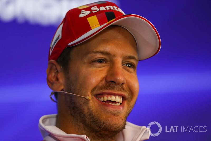 Sebastian Vettel, Ferrari in the Press Conference