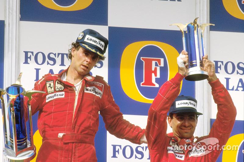 1987 (Аделаїда). Подіум: 1. Герхард Бергер, Ferrari. 2. Мікеле Альборето, Ferrari. 3. Тьєррі Бутсен, Benetton Ford Cosworth