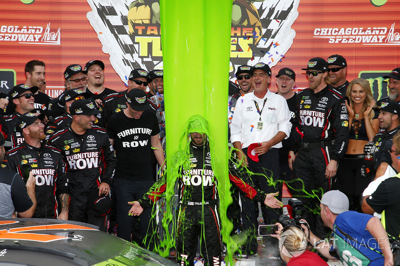 4. Race winner Martin Truex Jr., Furniture Row Racing Toyota