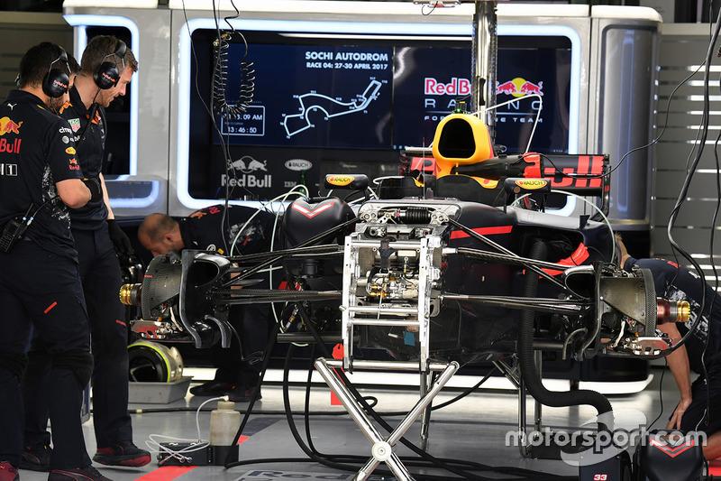Шасі і передні гальма Red Bull Racing RB13
