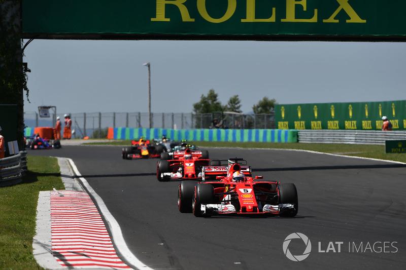 Sebastian Vettel, Ferrari SF70-H líder al inicio