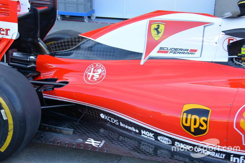 Ferrari SF16-H , Seitenkasten