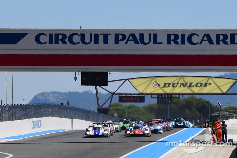 Partenza: #46 Thiriet by TDS Racing Oreca 05 - Nissan: Pierre Thiriet, Mathias Beche, Mike Conway al comando