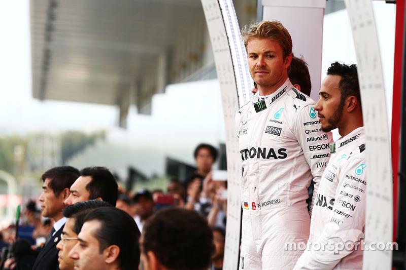 Podium: 1. Nico Rosberg, Mercedes AMG F1; 3. Lewis Hamilton, Mercedes AMG F1
