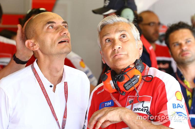 Claudio Domenicali, Ducat, Geschäftsführer; Davide Tardozzi, Ducati, Teamchef